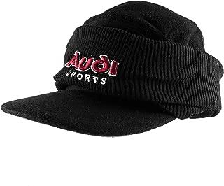 Audi Sports Corduroy Knit Beanie Flat Bill Cap Warm Winter Hat