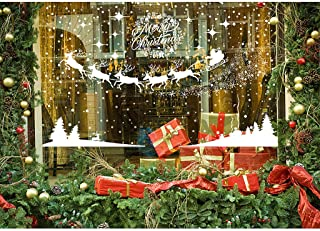 MGparty 390 PCS Christmas Window Clings Christmas Scenes Decals, Removable Snowflake Bell Decal for Window Mirror Glass Door Car Body Holiday Xmas Decoration (Christmas Scenes Decals)