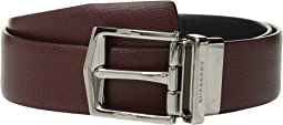 버버리 맨 제임스 양면 가죽 벨트 Burberry James Reversible London Leather Belt, Burgundy Red/Black