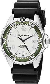 Momentum's Unisex M1 Splash Watch | 200m / 660 ft Water Resistant | Rotating Dive Bezle | Black Band