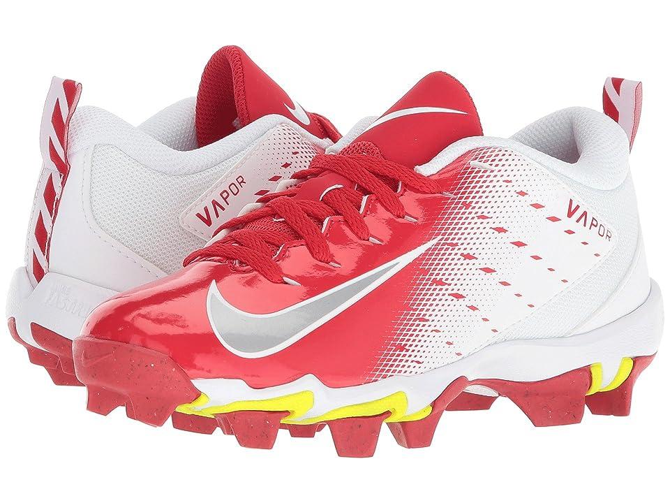 Nike Kids Vapor Untouchable Shark 3 Football (Toddler/Little Kid/Big Kid) (White/Metallic Silver/University Red) Kids Shoes