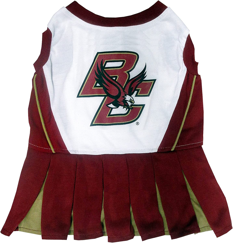 Pets First Collegiate Boston College Eagles Dog Cheerleader Dress, XSmall