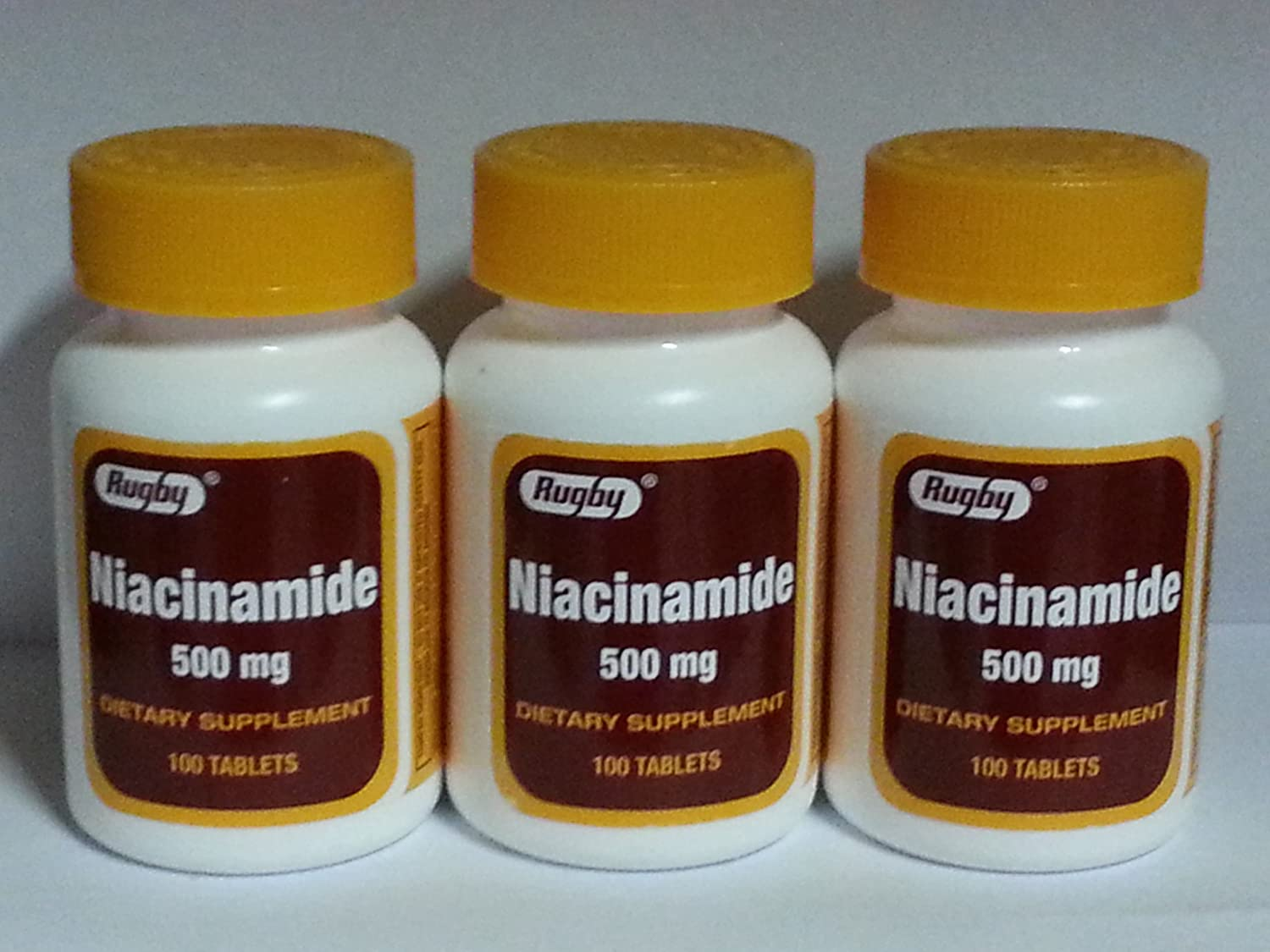 Rugby Niacinamide 500mg Dealing full price reduction Tablets - 3 100ct Max 86% OFF Pack