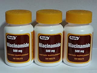 Rugby Niacinamide 500mg Tablets 100ct - 3 Pack (3)