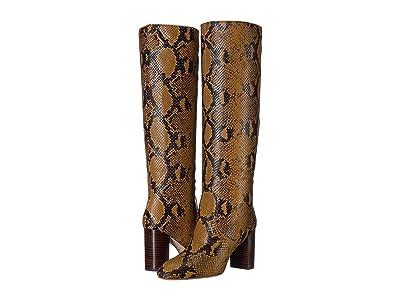 Loeffler Randall Goldy Tall Boot (Amber Embossed Snake) Women
