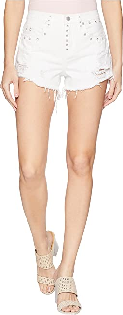 High-Rise Shorts in Lightbox White