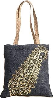 Yuga Denim Jute Bag Designer Women Handbags Shopping Multipurpose Bags