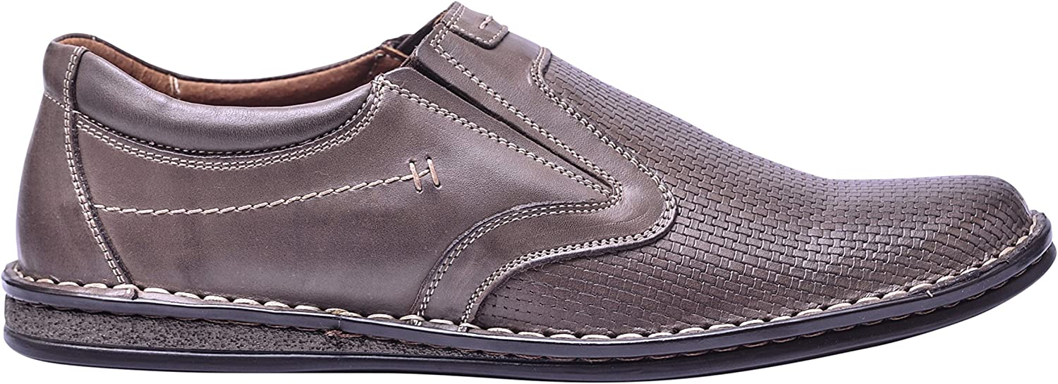 Vogar Mens Flat Leather Slip On Loafers Casual shoes VG4893A
