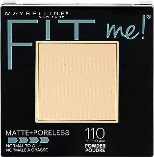 MAYBELLINE - Fit Me! Matte + Poreless Powder 110 Porcelain - 0.29 oz. (8.5 g)