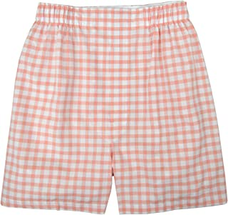 Brooks Brothers Men's Regular Fit 100% Cotton Boxer Orange White Checkered