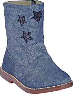 Beanz Sally Boot Matalic Mid Grey Shoes for Girls