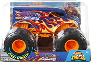 Hot Wheels Dairy Delivery Monster Truck, 1:24 Scale