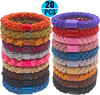 Fashion & Lifestyle Hair Ties Ponytail Holders - Large Boutique Girls Stretchy Elastic Hair Ropes Bands Styling Accessories for Women and Ladies Pack of 20