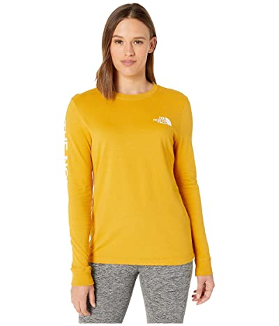 The North Face Long Sleeve Brand Proud Tee (Golden Spice) Women