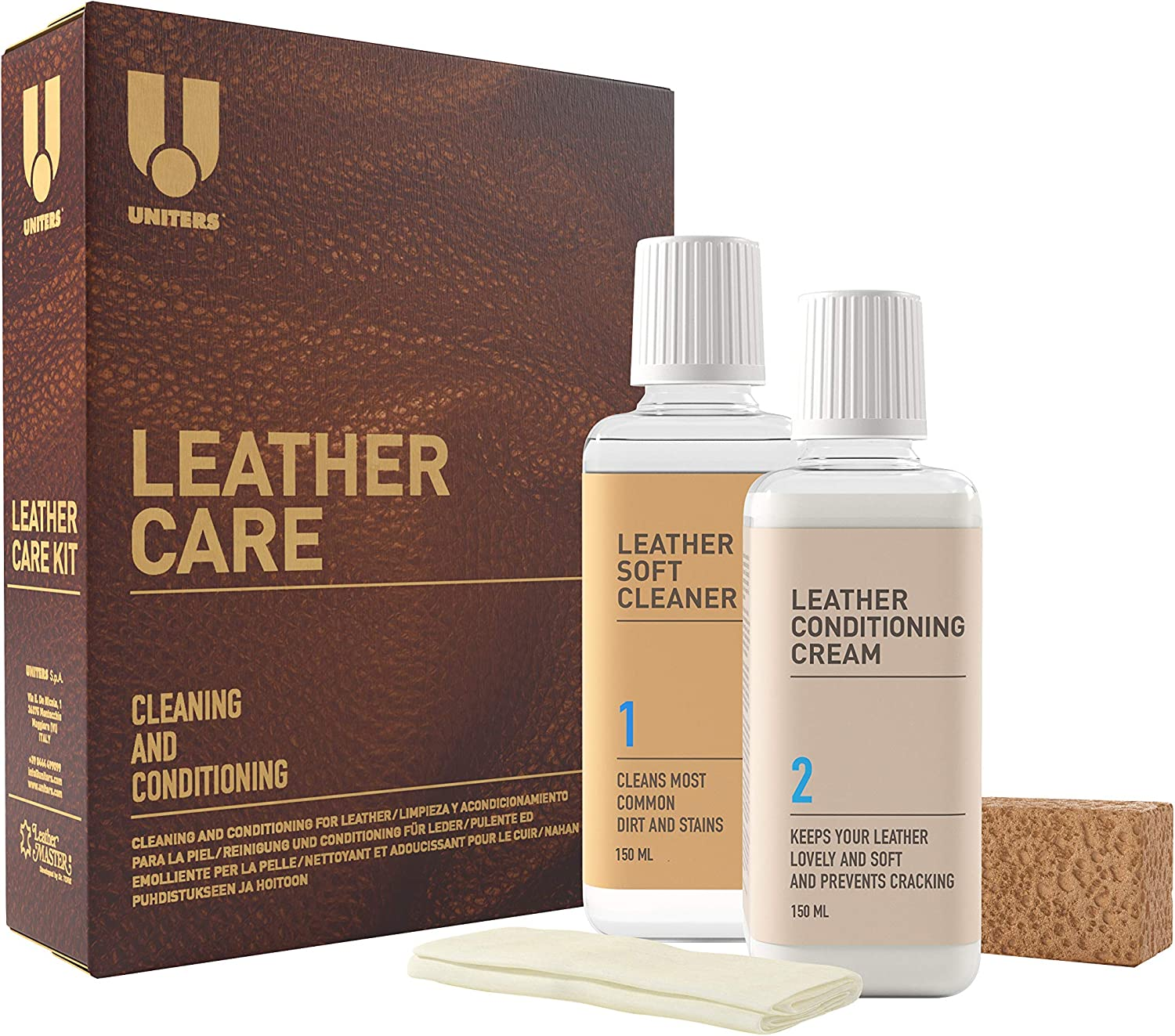 Animer and price revision UNITERS Leather Super beauty product restock quality top Care Kit - Cleaner 2 Pack and Protection