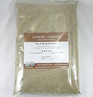 Wormwood Herb Powder, Sweet Annie, Certified Organic / You Ji Qing Hao Fen, 1lb Bulk Herb Powder by nuherbs Organic