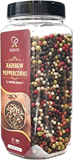 Sponsored Ad - Soeos Whole Black Peppercorn Mix (8oz), Peppercorn Blend of Grinder, Whole White Peppercorns, Red Peppercor...