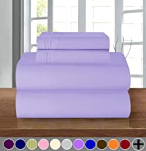 Elegant Comfort Luxury Soft 1500 Thread Count Egyptian Quality 4-Piece Sheet Wrinkle and Fade Resistant Bedding Set, Deep Pocket up to 16inch, California King, Lavender