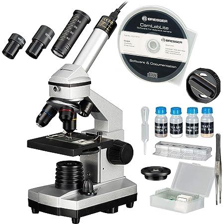 Bresser Junior Mikroskop Set 40x 1024x Mit Usb Kamera Und Heller Led Beleuchtung Für Durchlichtbeobachtungen Inklusive Reichhaltigem Zubehörpaket Und Stabilem Hartschalenkoffer Gewerbe Industrie Wissenschaft