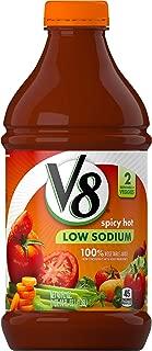 V8  Original Low Sodium Spicy Hot 100% Vegetable Juice, 46 oz. Bottle