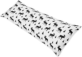 Sweet Jojo Designs Black and White Woodland Moose Body Case Cover for Rustic Patch Collection (Pillow Not Included)