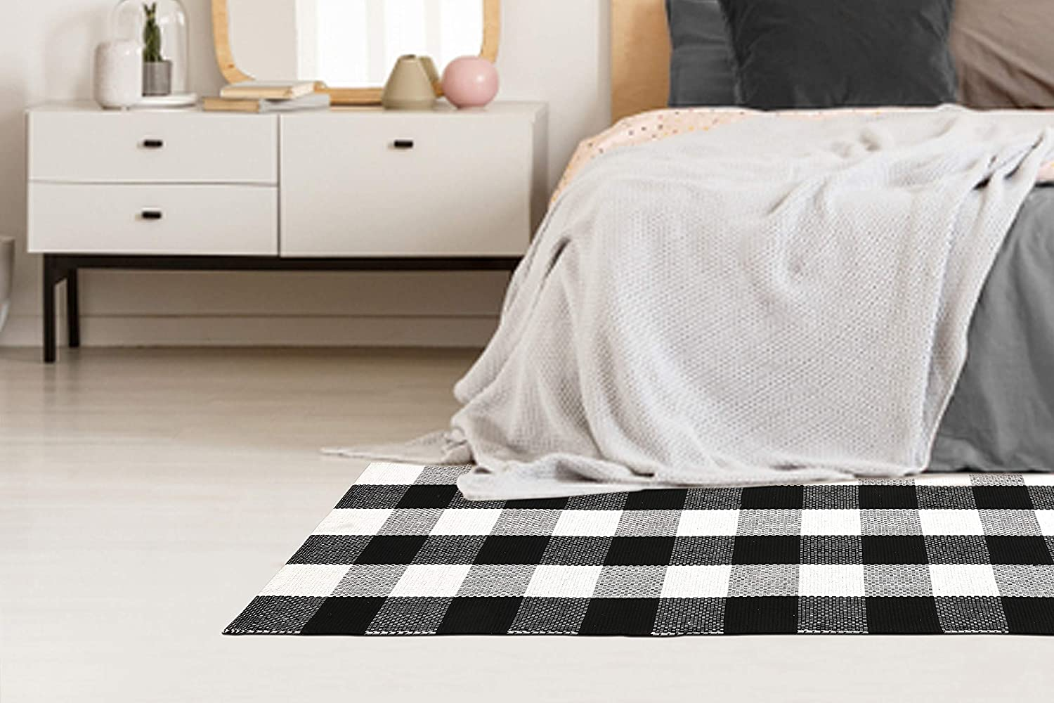 Max 42% OFF OFFicial mail order Buffalo Check Cotton Runner 24x60 Throw Rug - Checkered