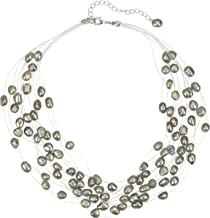 Regalia Multi Strand Baroque Gray Freshwater Cultured Pearl Floating Necklace
