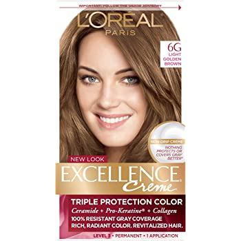 Amazon Com L Oreal Paris Superior Preference Fade Defying Shine Permanent Hair Color 6am Light Amber Brown Pack Of 1 Hair Dye Chemical Hair Dyes Beauty