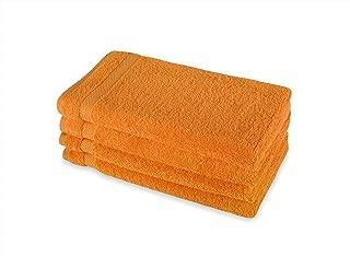 Payam Collection Premium Turkish Hand Towel Set of 4 (Orange)