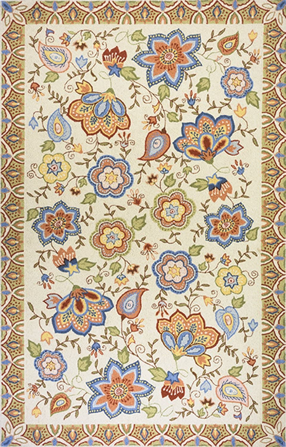 Momeni Rugs SPENCSP-22BGE2030 Spencer Collection, 100% Wool Hand Hooked Traditional Area Rug, 2' x 3', Beige