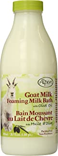 Alpen Secrets Goat Milk Foaming Milk Bath with Olive Oil, 28.7 Fluid Ounce (Pack of 2)