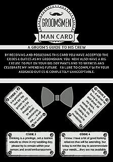 Groomsmen Gifts for Wedding | The Man Card | 8 pack | Groomsmen Proposal Cards | Wedding Party Proposal Black Dark Vintage Rustic Premium Card stock
