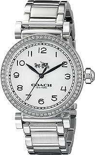Women's Madison Fashion 36mm Bracelet Watch White/Stainless Steel Watch