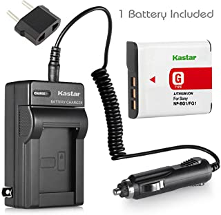 Kastar Battery (1-Pack) and Charger Kit for Sony NP-BG1, NP-FG1, BC-CSG and Sony Cyber-shot DSC-H50, Cyber-shot DSC-H10, Cyber-shot DSC-W120, Cyber-shot DSC-W170, Cyber-shot DSC-W300 Digital Cameras