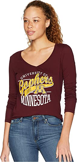 Minnesota Golden Gophers Long Sleeve V-Neck Tee