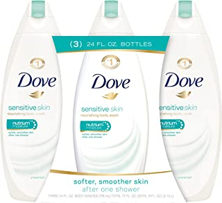 Dove Body Wash, Sensitive Skin 24 oz, Pack of 3
