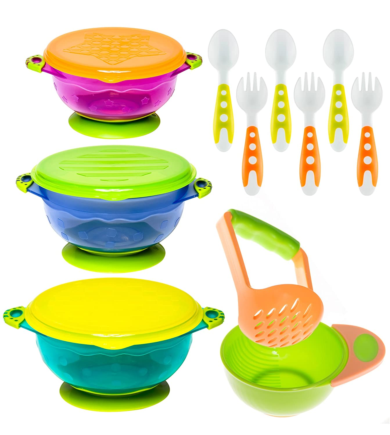 Baby Bowls Feeding Challenge the lowest price of Japan ☆ Classic Set with Spoons Fork Toddler and