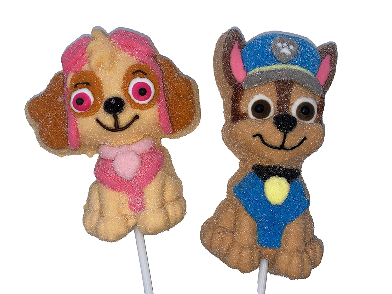 Paw Patrol Pups Jumbo Marshmallow Valentines Lollipop Soft Classic Day Store
