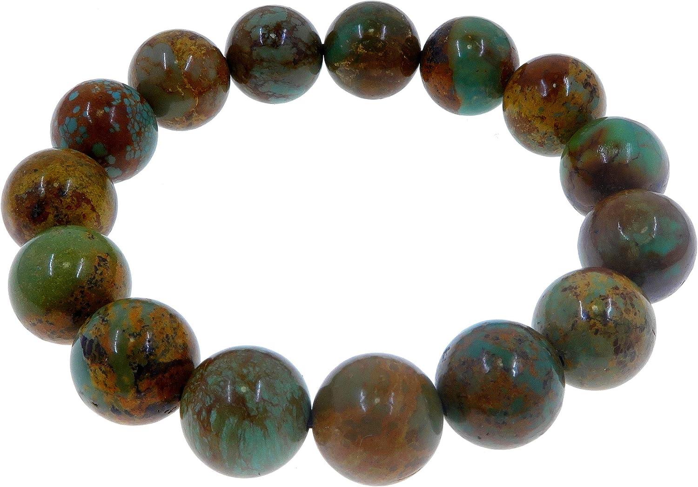 Turquoise Bracelet 11mm Boutique Blue Green Shamanic Gemstone Ro
