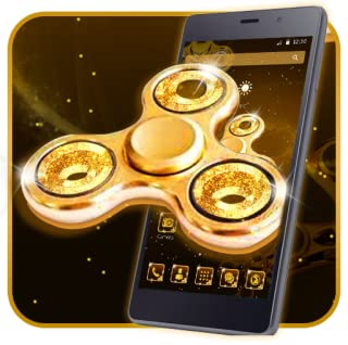 Luxury Golden Fidget spinner 2D Theme