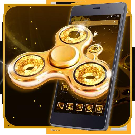 Luxury Golden Fidget spinner 2D Theme