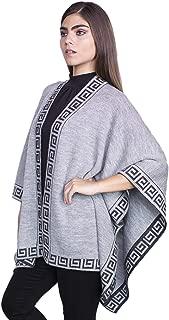 Raymis * 羊驼毛秘鲁女式手工针织披肩斗篷披肩