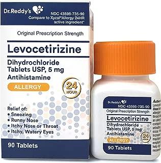 Levocetirizine 5 mg - Allergy Pills, 24 Hour Allergy and Sinus Relief - Allergy Medicine, 90 Tablets