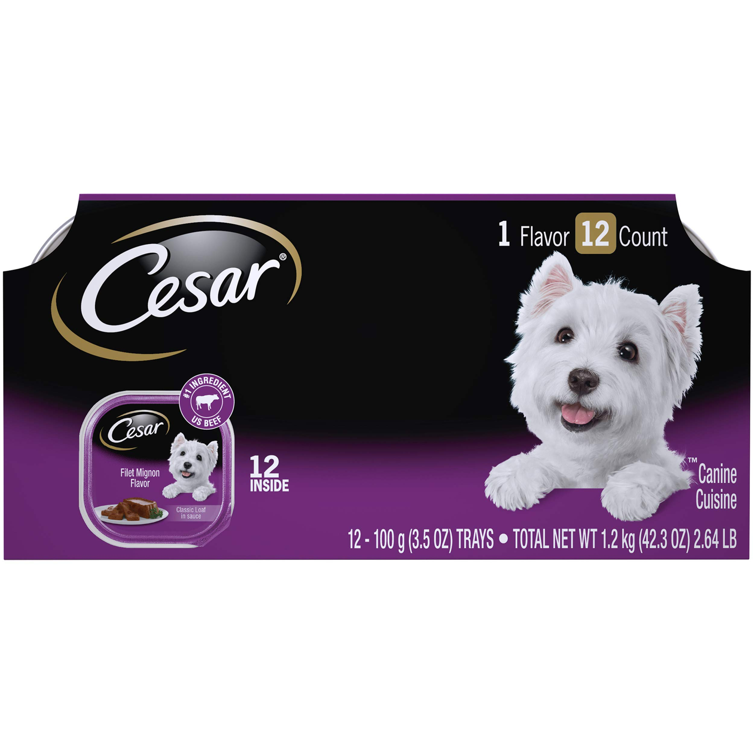 Cesar Gourmet Wet Dog Food Variety Packs  24 Trays