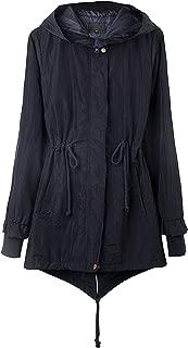 4THSEASON Women's Rain Coat Water-Resistant Windproof Windbreaker with Hood
