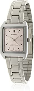 Casio Women Dial Stainless Steel Band Dress Watch