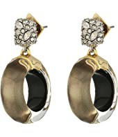 Alexis Bittar - Domed Drop Circle Post Earrings