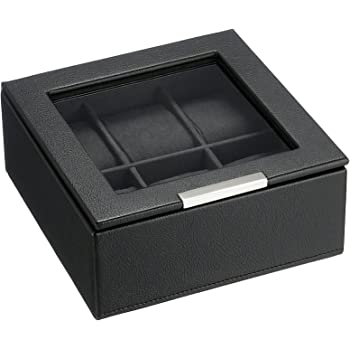 Stackables 6-Piece Watch Tray with Lid by Wolf