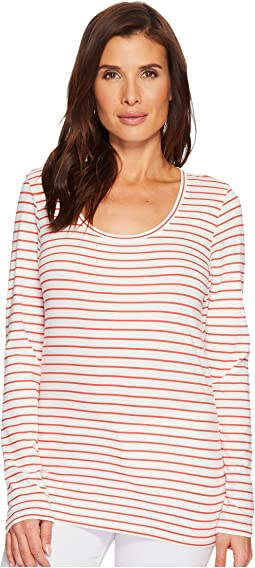 Long Sleeve Pima Stripe Tee