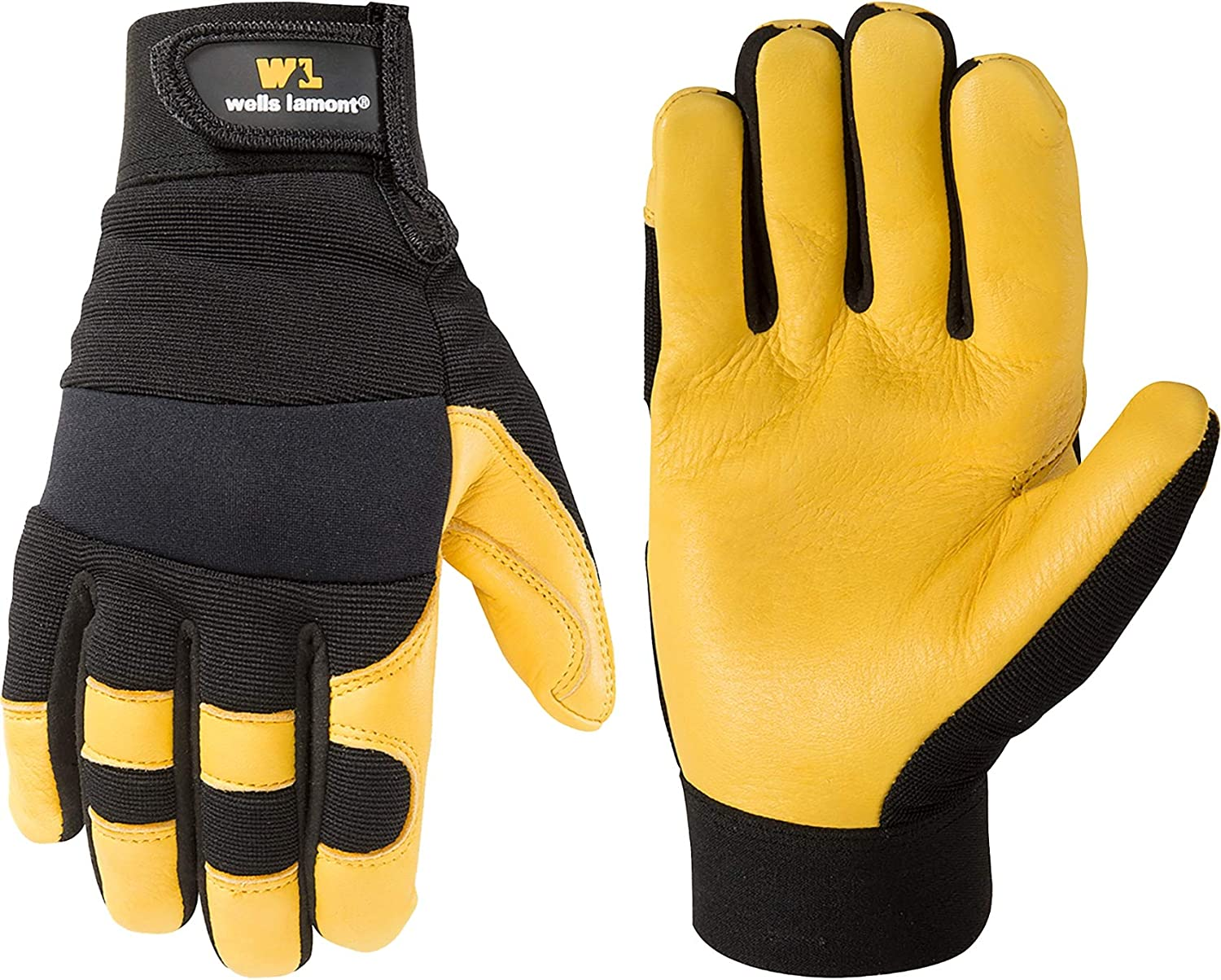 Men's Deerskin Today's only Leather Palm Hybrid 321 Work Lamont Discount mail order Gloves Wells